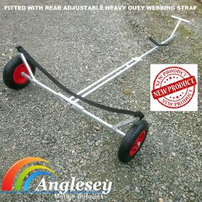 dinghy launching trolley with webbing strap