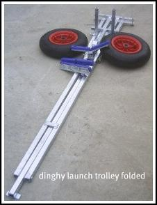 dinghy launching trolley folding