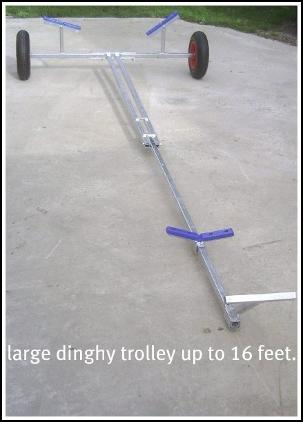 Large Dinghy Launching Trolley